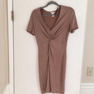 H&M Twist Front Midi Dress